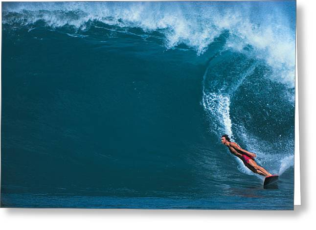 Stunts Greeting Cards - Man Surfing In The Sea Greeting Card by Panoramic Images