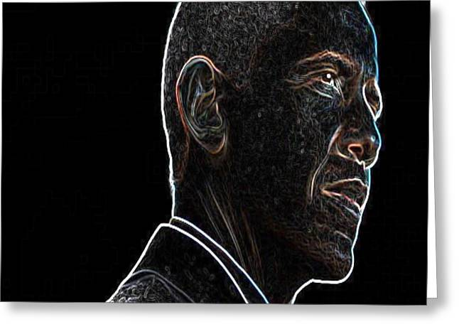 President Obama Greeting Cards - Man  With  A  Vision Greeting Card by Tony Ashley