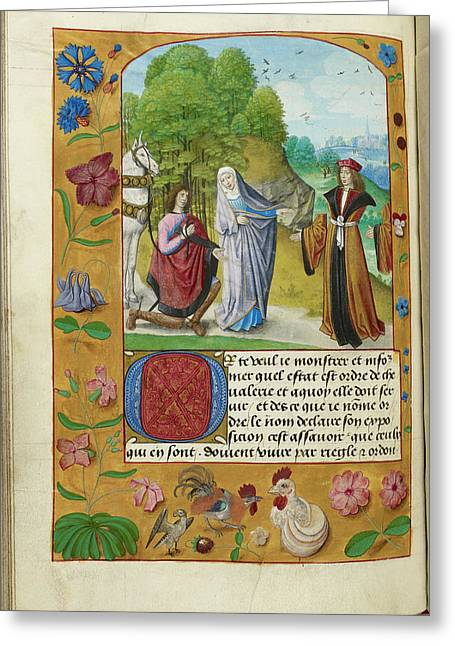 Man Without Chivalry Or Honour Greeting Card by British Library