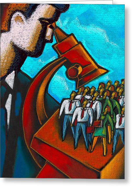 Watch Paintings Greeting Cards - Management Greeting Card by Leon Zernitsky