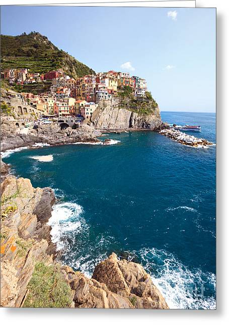 North Italian Town Greeting Cards - Manarola in the Cinque Terre Italy Greeting Card by Matteo Colombo
