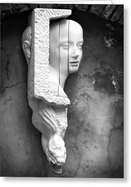 Woman Head Sculpture Greeting Cards - Manarola Bust Greeting Card by Kurt Golgart