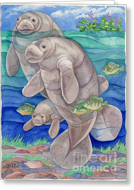 Reef Fish Greeting Cards - Manatee Bay Greeting Card by Paul Brent