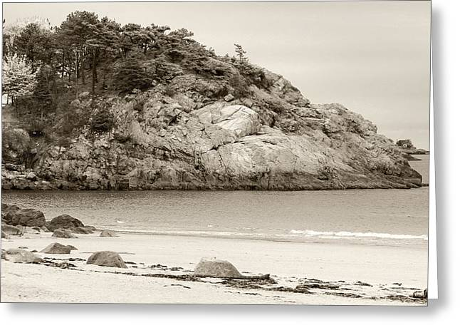 House By The Sea Greeting Cards - Manchester By The Sea - The View From the Beach Greeting Card by Michelle Wiarda