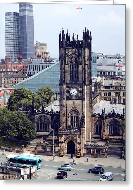 Recently Sold -  - Stepping Stones Greeting Cards - Manchester Cathedral Greeting Card by Anthony Bean