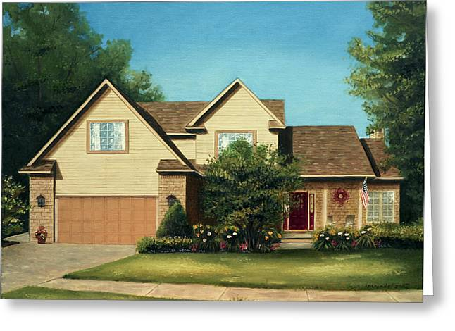 Kinkade Greeting Cards - Manchester Home 2011 Greeting Card by Cecilia  Brendel