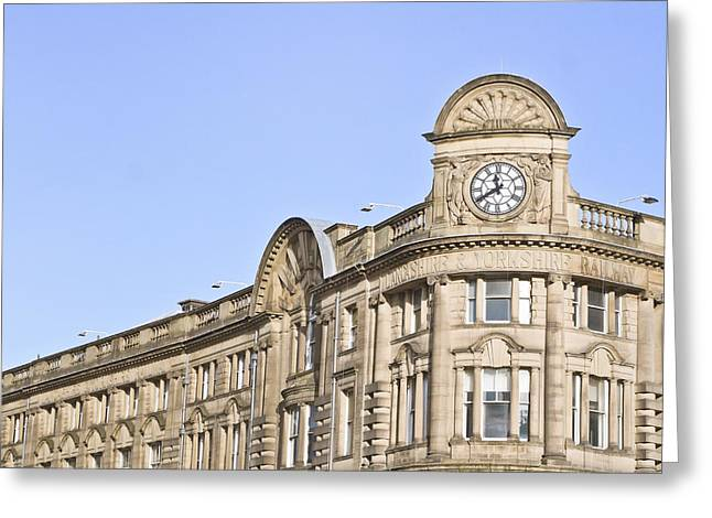 Large Clock Greeting Cards - Manchester station Greeting Card by Tom Gowanlock