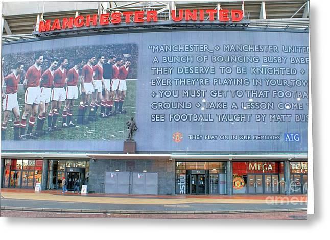 David Birchall Greeting Cards - Manchester United Busby Babes  Greeting Card by David Birchall