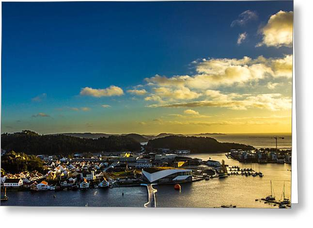 Mandal Greeting Cards - Mandal Norway Greeting Card by Ben Foster