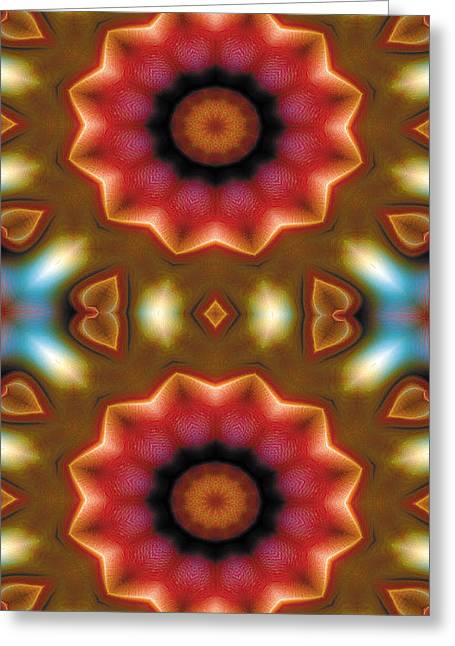 Restful Greeting Cards - Mandala 103 for iPhone Double Greeting Card by Terry Reynoldson