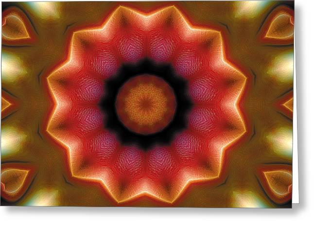 Spiritual Art Greeting Cards - Mandala 103 Greeting Card by Terry Reynoldson