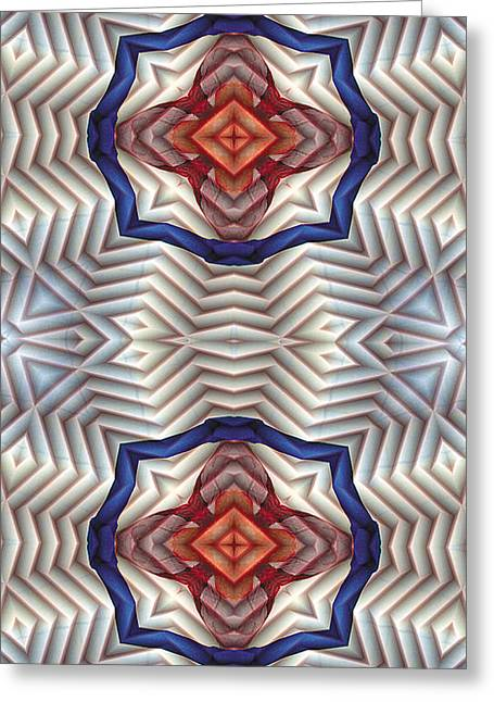 Contemplation Greeting Cards - Mandala 11 for iPhone Double Greeting Card by Terry Reynoldson