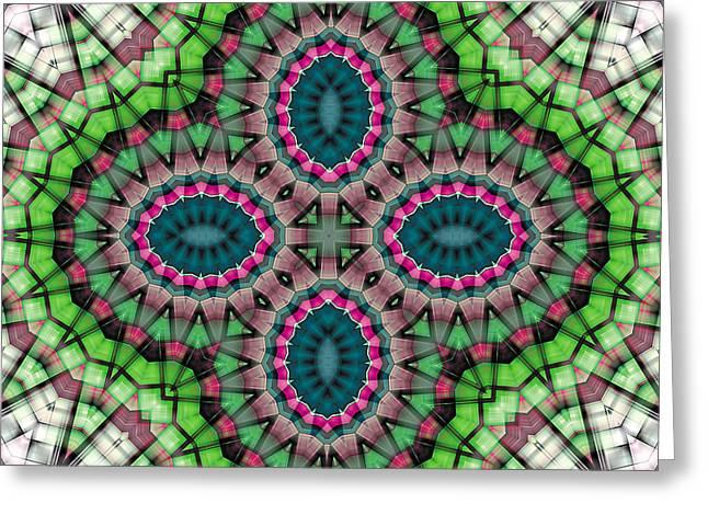 Texture Art Greeting Cards - Mandala 111 Greeting Card by Terry Reynoldson