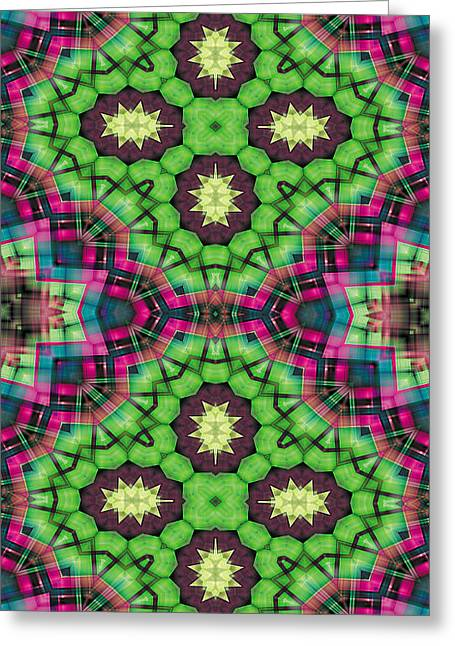 Mandala 112 For Iphone Double Greeting Card by Terry Reynoldson