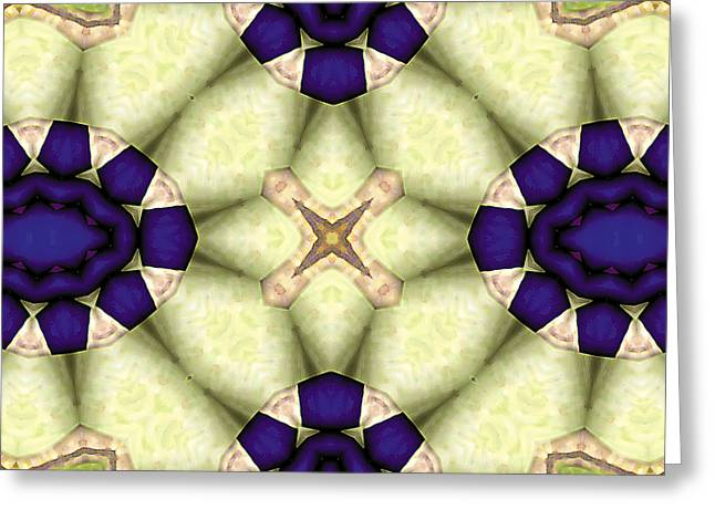 Texture Art Greeting Cards - Mandala 115 Greeting Card by Terry Reynoldson