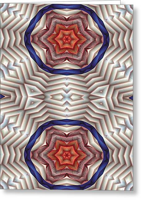 Circle Greeting Cards - Mandala 12 for iPhone Double Greeting Card by Terry Reynoldson