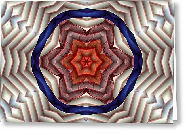 Mathematical Greeting Cards - Mandala 12 Greeting Card by Terry Reynoldson