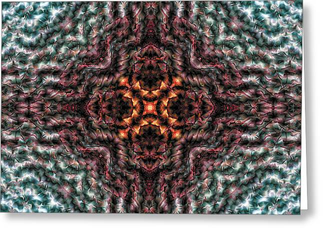 Soothing Greeting Cards - Mandala 123 Greeting Card by Terry Reynoldson