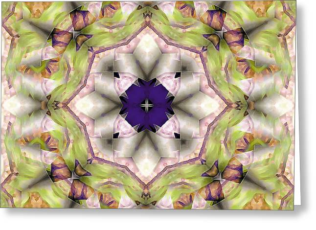 Sacred Greeting Cards - Mandala 127 Greeting Card by Terry Reynoldson