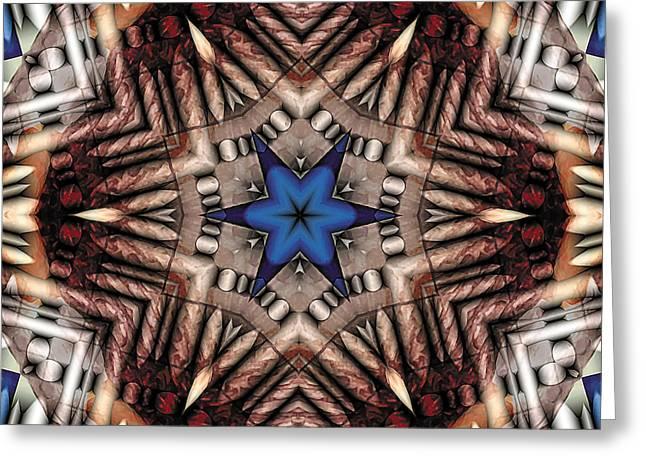 Geometric Greeting Cards - Mandala 13 Greeting Card by Terry Reynoldson