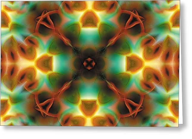 Cosmos Greeting Cards - Mandala 133 Greeting Card by Terry Reynoldson