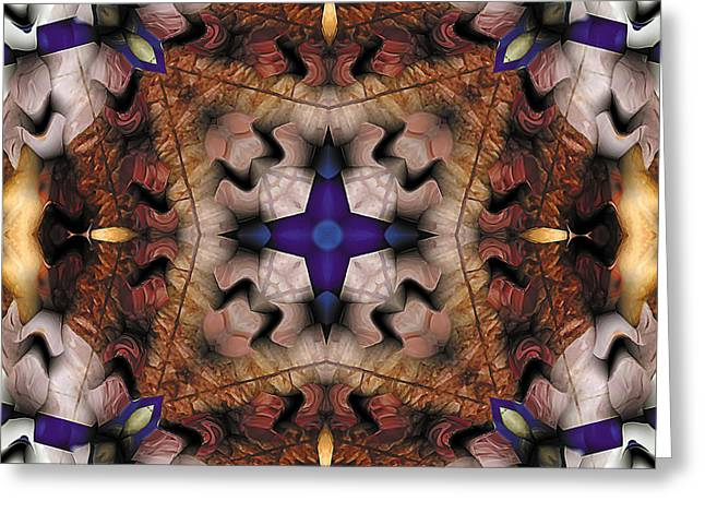 Texture Art Greeting Cards - Mandala 17 Greeting Card by Terry Reynoldson