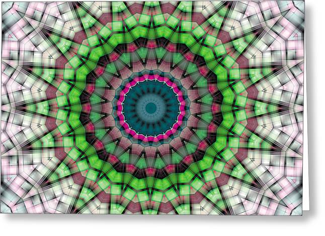Mathematical Greeting Cards - Mandala 26 Greeting Card by Terry Reynoldson
