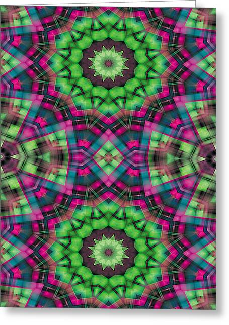 Mathematical Greeting Cards - Mandala 29 for iPhone Double Greeting Card by Terry Reynoldson