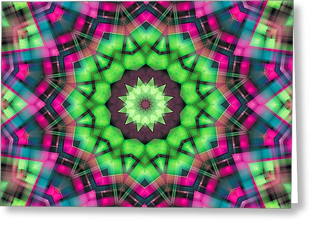 Trance Greeting Cards - Mandala 29 Greeting Card by Terry Reynoldson