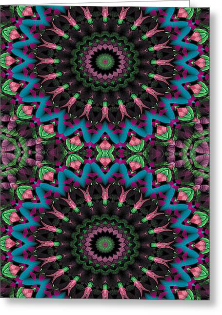 Textural Greeting Cards - Mandala 35 for iPhone Double Greeting Card by Terry Reynoldson