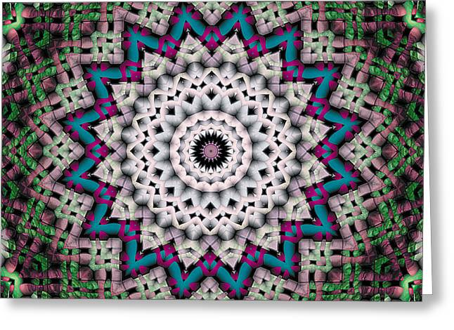 Kaleidoscope Greeting Cards - Mandala 37 Greeting Card by Terry Reynoldson