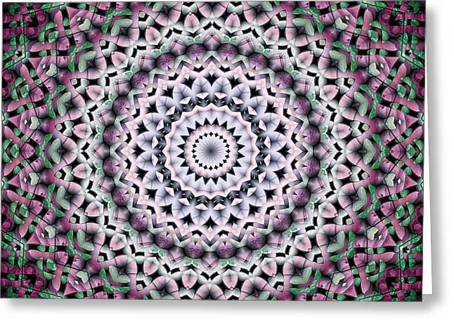 Mandala 38 Greeting Card by Terry Reynoldson