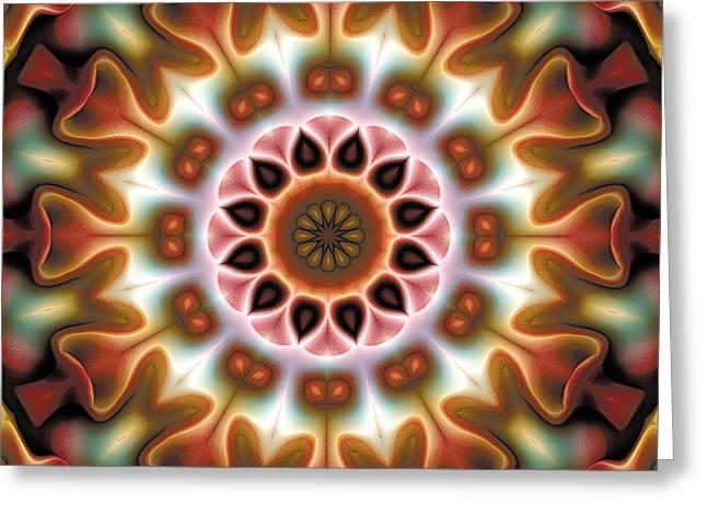 Spiritual Art Greeting Cards - Mandala 67 Greeting Card by Terry Reynoldson