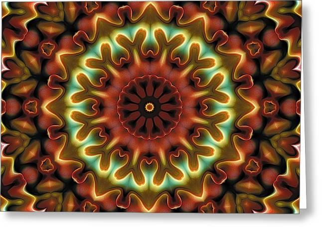 Texture Art Greeting Cards - Mandala 71 Greeting Card by Terry Reynoldson