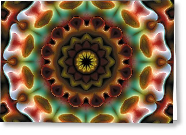 Religious Art Greeting Cards - Mandala 74 Greeting Card by Terry Reynoldson