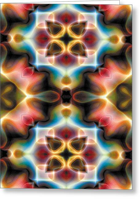 Sacred Greeting Cards - Mandala 77 for iPhone Double Greeting Card by Terry Reynoldson