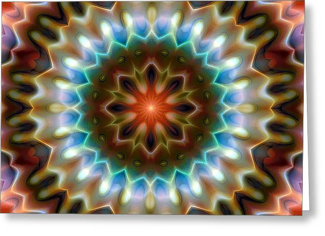 Psychedelic Greeting Cards - Mandala 79 Greeting Card by Terry Reynoldson