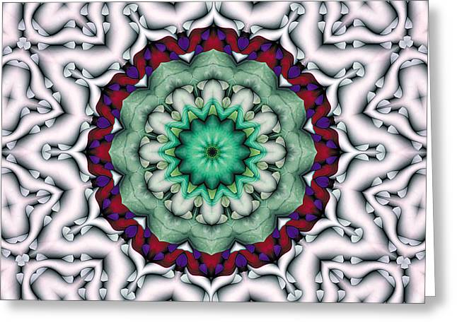 Mandala Greeting Cards - Mandala 8 Greeting Card by Terry Reynoldson