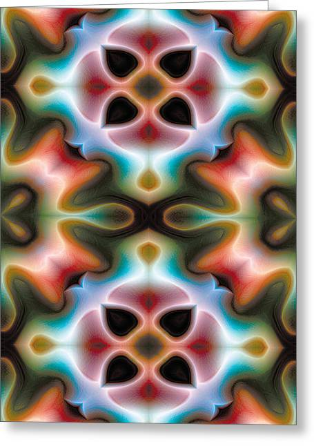 Mandala 82 For Iphone Double Greeting Card by Terry Reynoldson