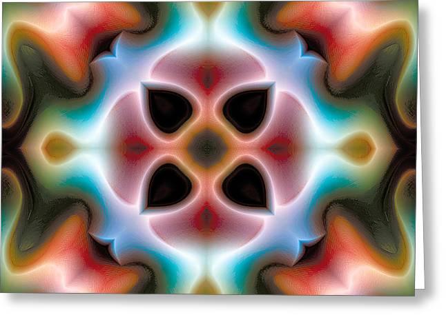 Heavenly Greeting Cards - Mandala 82 Greeting Card by Terry Reynoldson