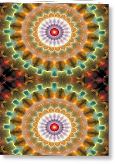Sacred Greeting Cards - Mandala 87 for iPhone Double Greeting Card by Terry Reynoldson