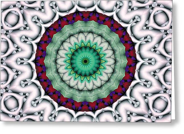 Hinduism Greeting Cards - Mandala 9 Greeting Card by Terry Reynoldson