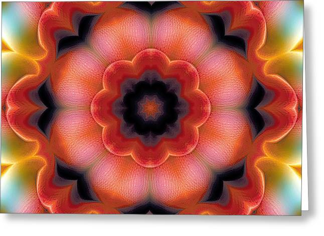 Hinduism Greeting Cards - Mandala 91 Greeting Card by Terry Reynoldson
