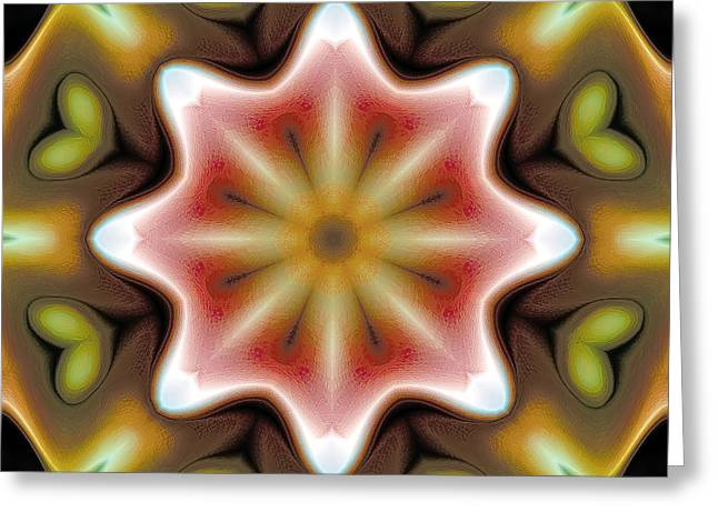Relaxing Greeting Cards - Mandala 93 Greeting Card by Terry Reynoldson