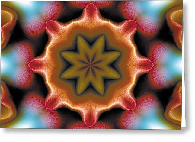 Hinduism Greeting Cards - Mandala 94 Greeting Card by Terry Reynoldson