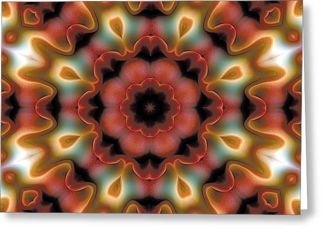 Geometric Art Greeting Cards - Mandala 96 Greeting Card by Terry Reynoldson