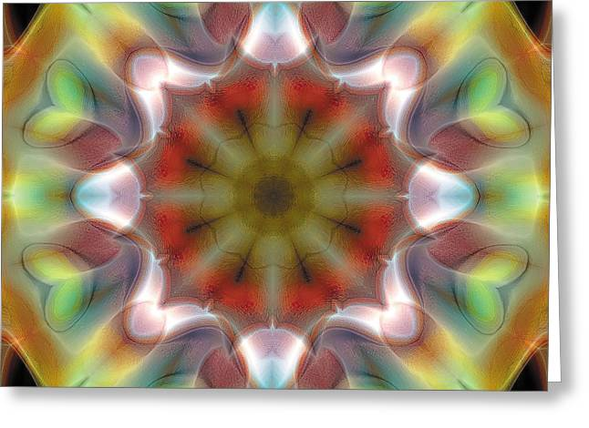 Hinduism Greeting Cards - Mandala 97 Greeting Card by Terry Reynoldson