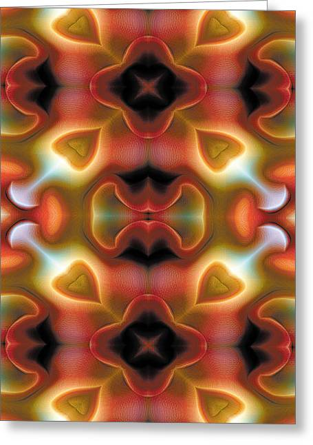 Relaxing Greeting Cards - Mandala 98 for iPhone Double Greeting Card by Terry Reynoldson