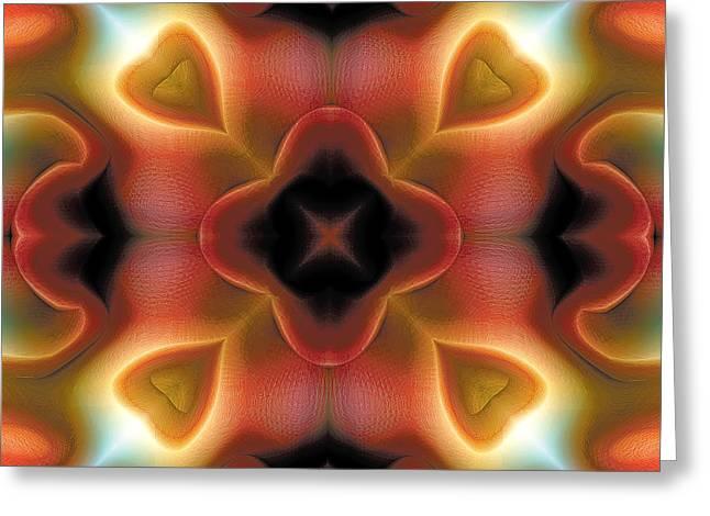 New Age Art Greeting Cards - Mandala 98 Greeting Card by Terry Reynoldson