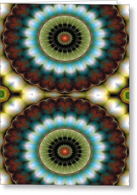Textural Greeting Cards - Mandala 99 for iPhone Double Greeting Card by Terry Reynoldson